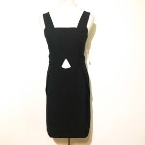 the impeccable pig Black Cutout Dress